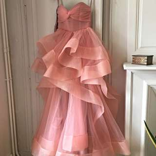 eveningdressinpinkcolor
