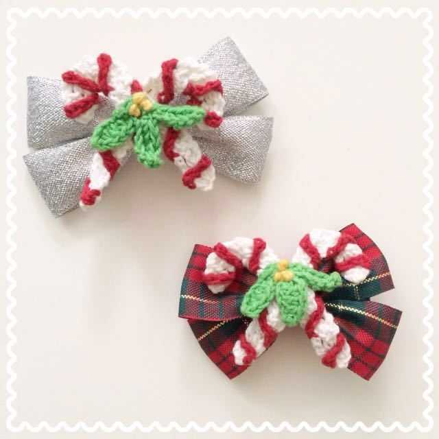 christmas hair accessory/ clip手作圣诞头饰发夹