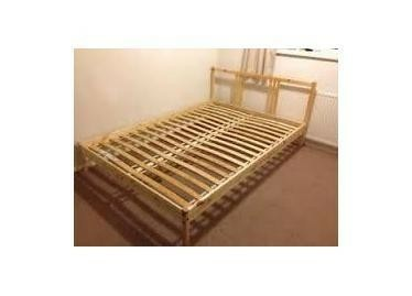5ft bed frame 宜家4呎半木床架