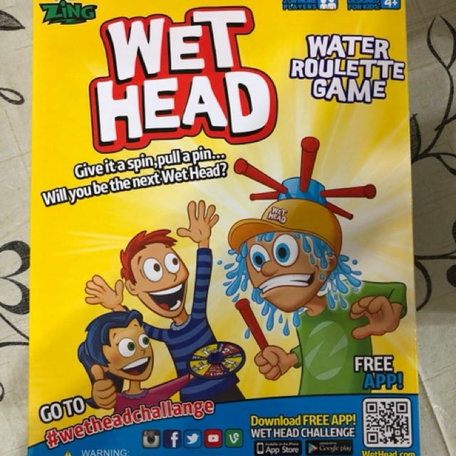 bnib wet head water roulette game ( cheapest in carousell !