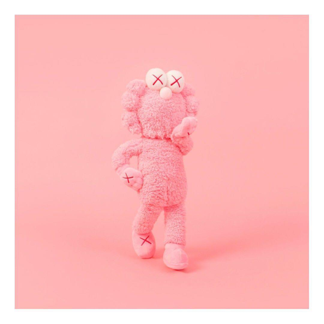 kaws bff plush pink, toys & games, bricks & 在