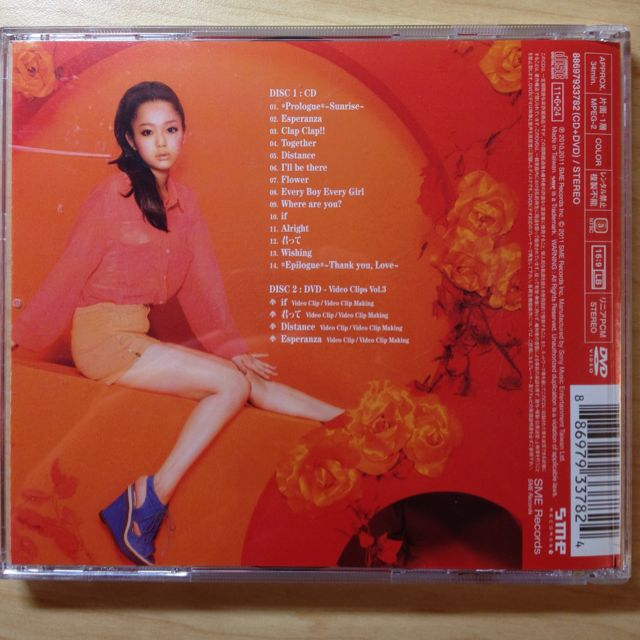 Thank you, love Nishino Kana 2 Discs