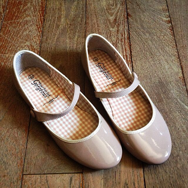 nude mary jane ballet flats shoes