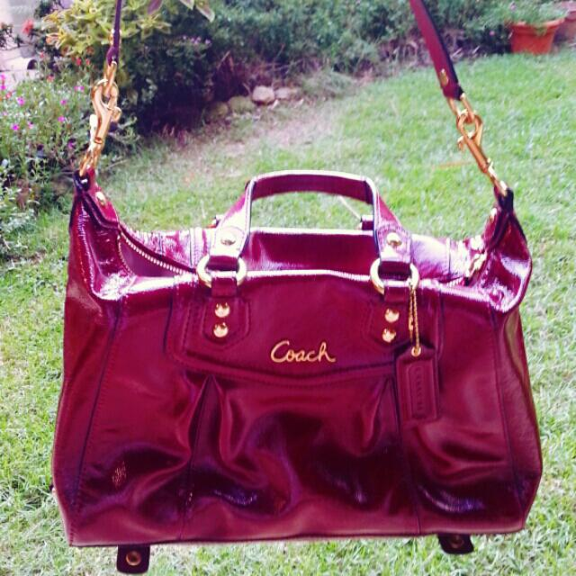 NEW Genuine Patent Leather Coach bag