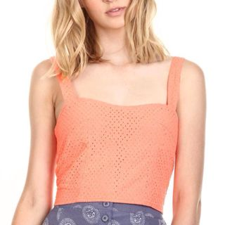 d2547c219ed77b Cotton On Corset Does Lace Bustier in Neon Coral