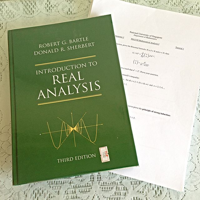 MA2108 Mathematical Analysis I Introduction To Real