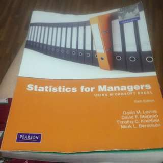 Statistics for Managers Using Microsoft Excel Sixth Edition