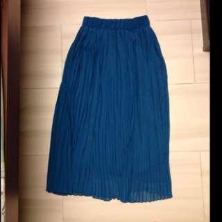 Teal chiffon maxi skirt BNIP