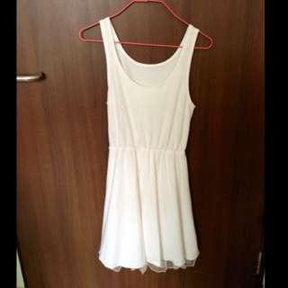 Cream skater dress
