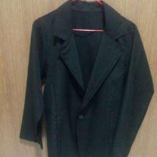 black long sleeve blazer