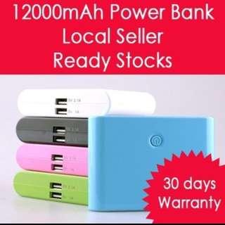 Portable chargers (12000mah, 20000mah and 2600mah)