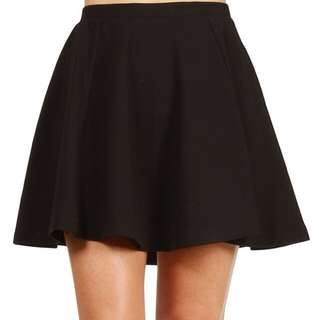 BNIB Black Skater Skirt