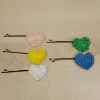 hearts hairpin