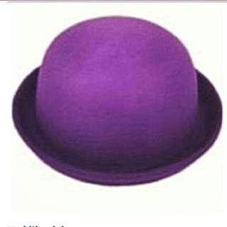 Brand new purple bowler hat