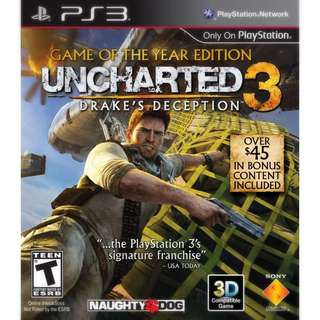 [PS3] UNCHARTED 3 GAME OF THE YEAR EDITION - DRAKE'S DECEPTION