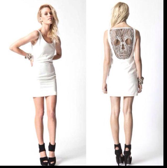 ASOS White Skull Back Dress