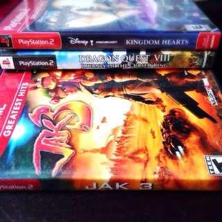 [PS2] Kingdom Hearts; Dragon Quest VIII; JAK 3