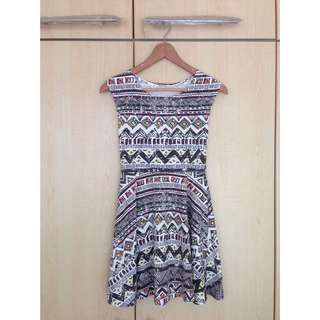 (Pending) Tribal Print Skater Dress