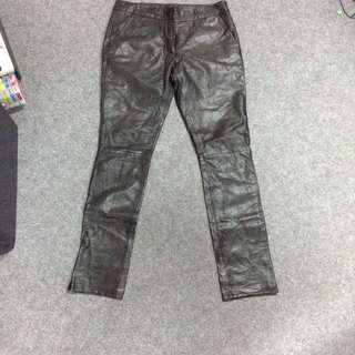 Topshop 100% Leather Pants