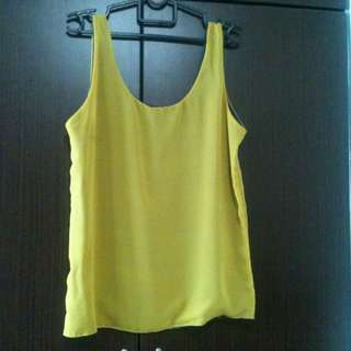2tone Sleeveless Blouse