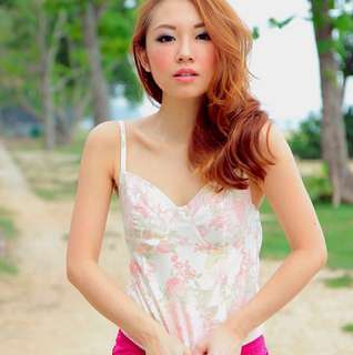 VGY Floral Bustier Top