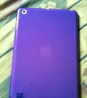 Purple & Pinkish Purple Ipad Mini Rubber Cover