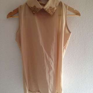 Sheer Beige Blouse