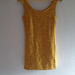 Yellow Body-con Dress
