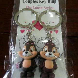 Chipmunk Couple Key Ring