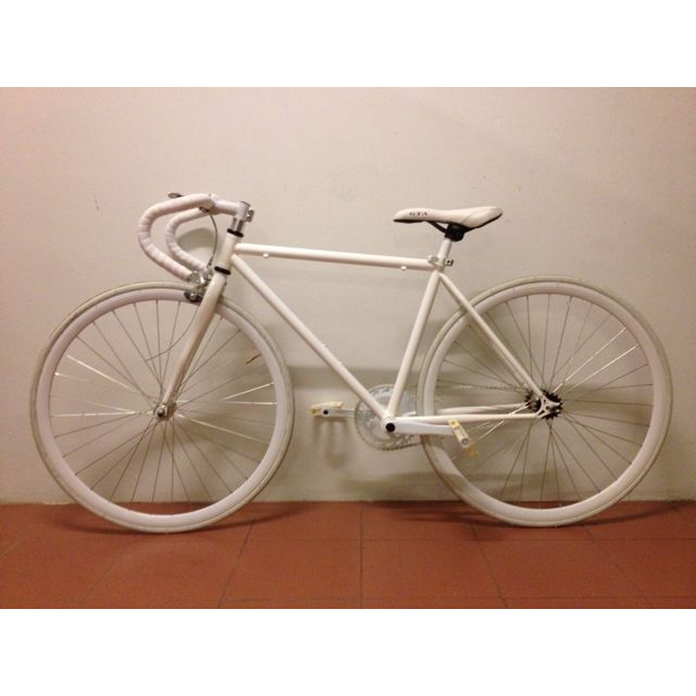 All White Fixed Gear Bicycle Fixie Sports On Carousell