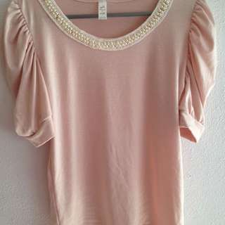 BN Beaded Beige Top