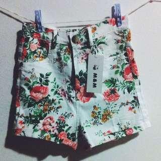 [BRAND NEW]High Waist Floral Vintage Shorts