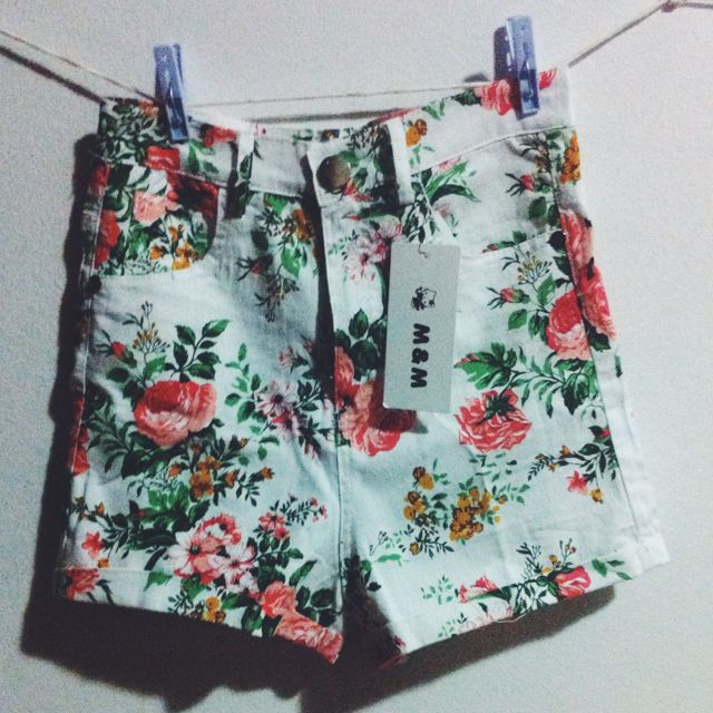 [BRAND NEW]High Waist Floral Vintage Shorts