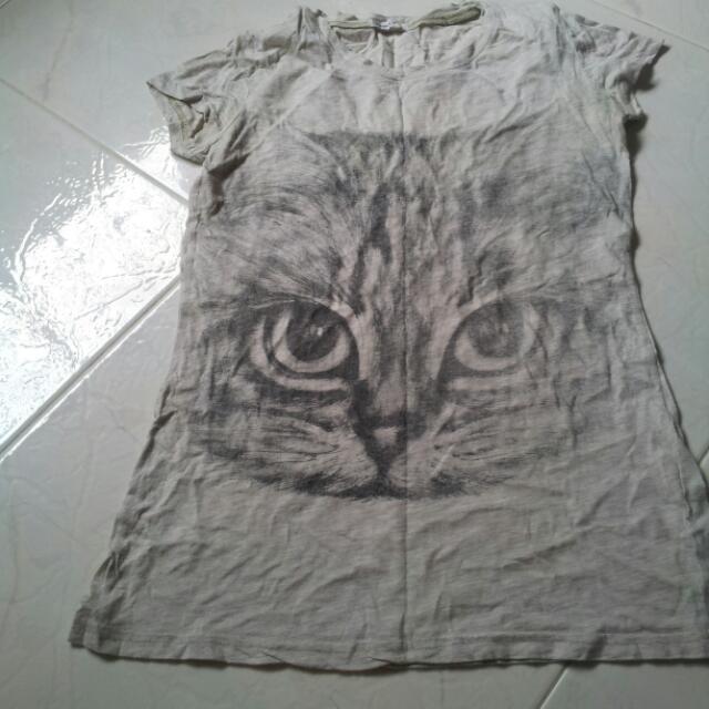 Cat Printed Top