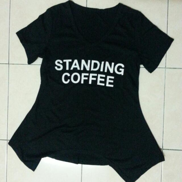 black top standing coffee