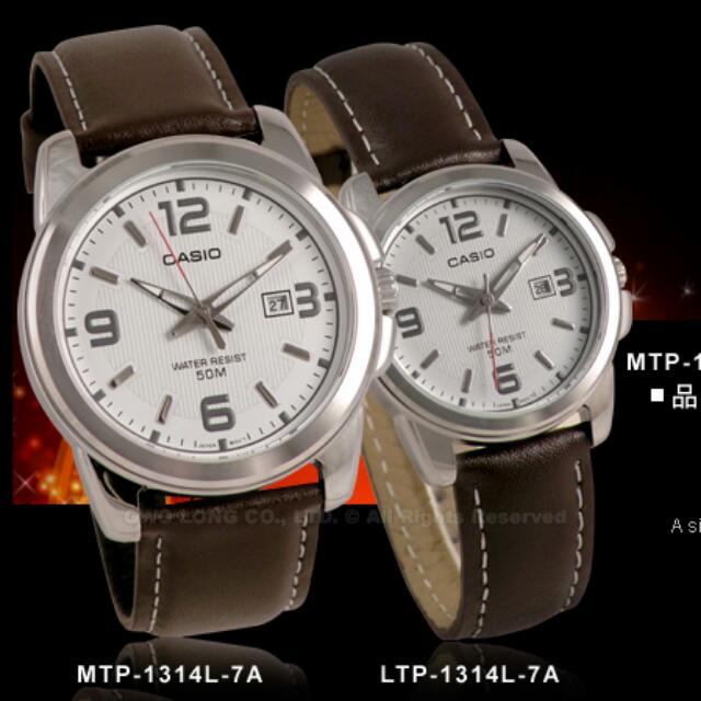 Jam Tangan Casio Couple. MTP   LTP-1314L (Original) d9823d83ed