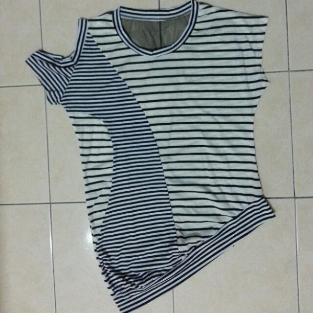 stripe top black and white