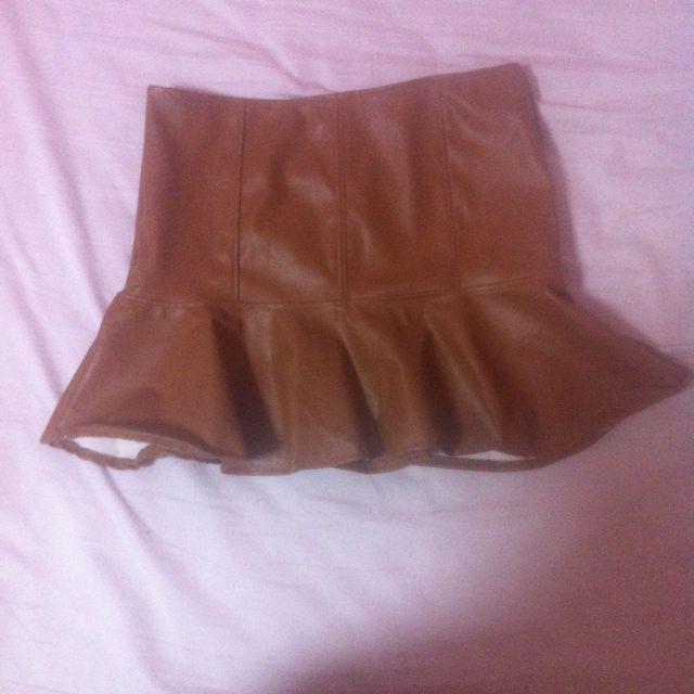 Pleather Brown Mermaid Skirt