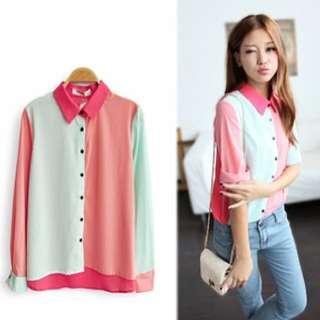 BN Tri-tone Collared Shirt!