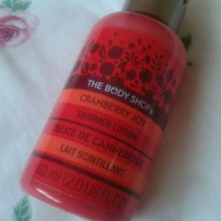 BN Body Shop Cranberry Shimmer Lotion