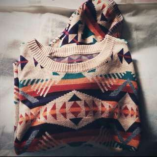 Tribal Knit Crop Top