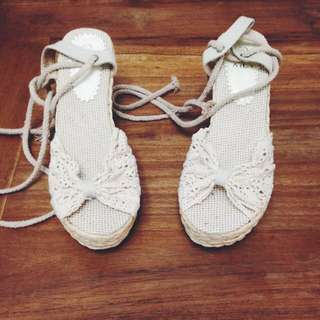 White Lace Espadrilles