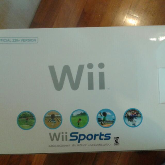 PRICE REDUCED BRAND NEW Wii Full Set, With Wii Sports Disc!