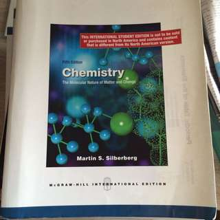 CM1401 : Chemistry - The Molecular Nature Of Matter And Change 5th Edition