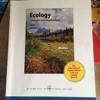 LSM2251 : Ecology - Concepts And Applications 6th Edition