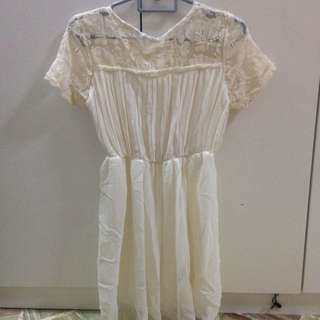 Lace Pleated Dress :)
