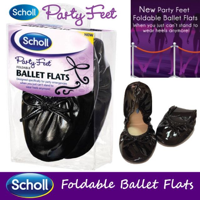 5c6a8a562e82 Scholl Party Feet Foldable Ballet Flats  Highly Raved