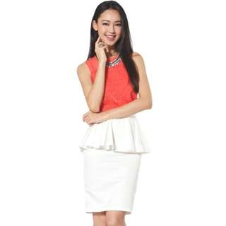 Love Bonito Zoila Peplum Skirt (Size S-white)
