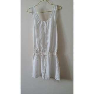 3 For $10 White Paperbag Dress