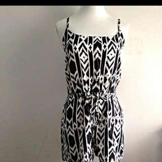 BN Black&white Aztec Romper